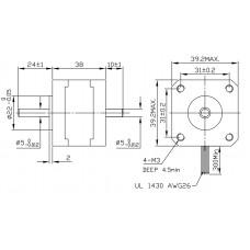 Шаговый двигатель FL39ST38-0504B-5