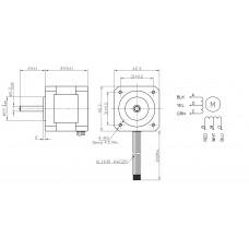 Шаговый двигатель FL42STH38-0406A-5
