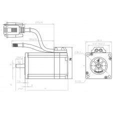 Шаговый двигатель с обратной связью CS-M22313