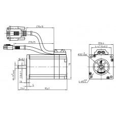 Шаговый двигатель с обратной связью CS-M22323-S