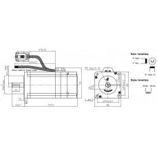 Шаговый двигатель с обратной связью CS-M23485-S