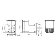 Шаговый двигатель с обратной связью и встроенным драйвером IES-1706