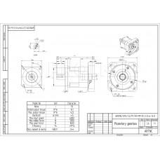 Редуктор планетарный WR090/010:1/S2/P1/FR-MM-1K-2-0-6-13-D